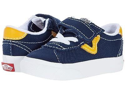 Vans Kids Sport V (Infant/Toddler) ((Classic Sport) Dress Blue/Saffron) Boy