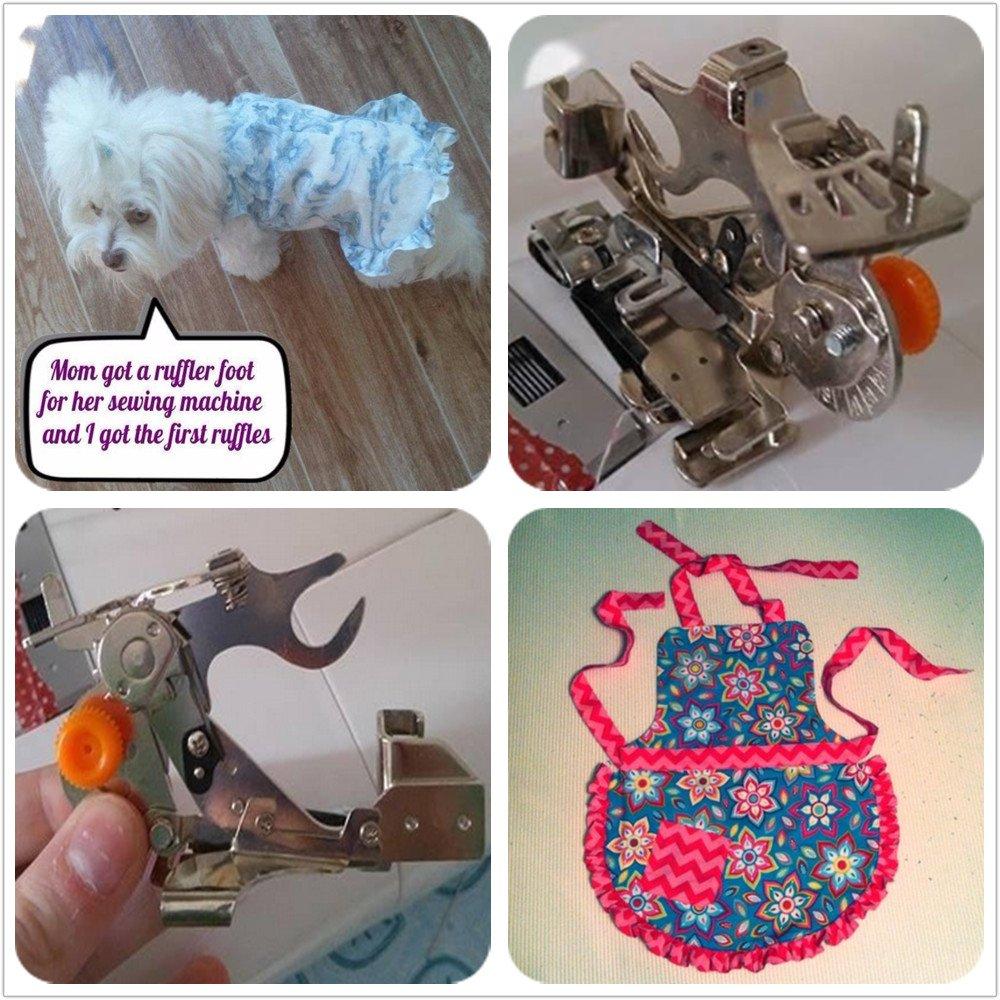 Wefond 1 pieza Ruffler Máquina de coser Accesorio Prensatelas para ...