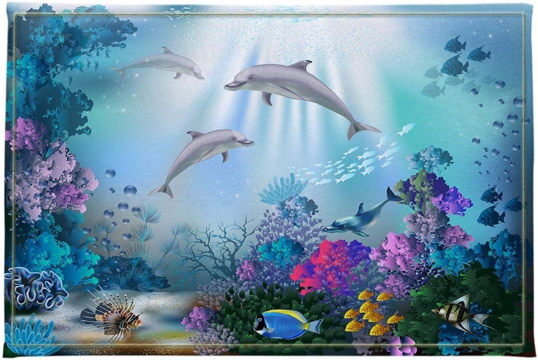 LB Underwater Animal Bathroom Mat Dolphin K Reef Swim Fish Ranking service TOP18 Coral