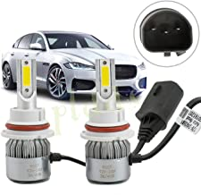 PLDDE 2pcs 9007/HB5 6000K Cool White 7200LM All-in-One LED COB Bulbs Conversion Kit For Headlights High Low Dual Beam DC 12V/24V IP67 Waterproof Pack of 2 Driver+Passenger Replacement