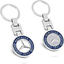 MIKAFEN - Llavero de coche con emblema 3D de metal para BMW Mercedes Benz VW Audi (para Benz)