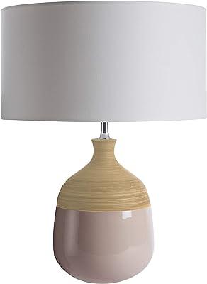 Luminaire Prada, lampe décorative céramique, 60 W, Taupe, ø35 x H48 cm