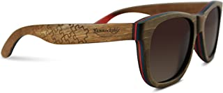 Best wayfarer wood temple sunglasses 56mm Reviews
