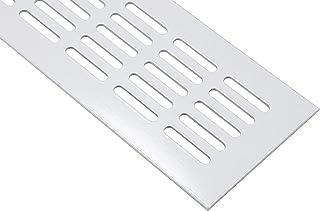 PrimeMatik Grille de Ventilation pour plinthes Base en Aluminium 200x50mm de Couleur Noire