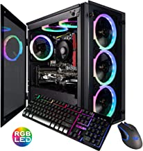 CUK Stratos Micro Gaming Desktop (AMD Ryzen 7 3700X, 16GB DDR4 RAM, 1TB NVMe SSD, NVIDIA GeForce RTX 2060 6GB, 600W Gold PSU, Windows 10 Home) Video Editing Gamer PC Computer