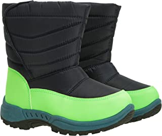 Mountain Warehouse Caribou Junior Kids Snow Boots - Snowproof, Fleece Lining, Warm, Insulated, High Traction Sole - Ideal ...