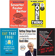 Smarter Faster Better [Hardcover], The One Thing, Eat That Frog, Getting Things Done, It Doesn't Have to Be Crazy at Work ...