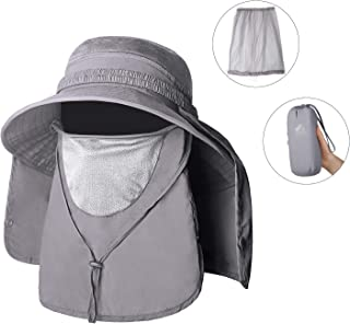 Unigear Sun Hat, UPF 50+ Sun Protection Wide Brim Bucket Hat with Removable Mosquito Net and Neck Face Flap, Breathable and Packable for Safari, Fishing, Hiking, Gardening, for Men & Women