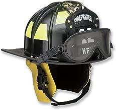 Honeywell First Responder Ben Franklin 2 Plus Fire Helmet with Faceshield, Yellow