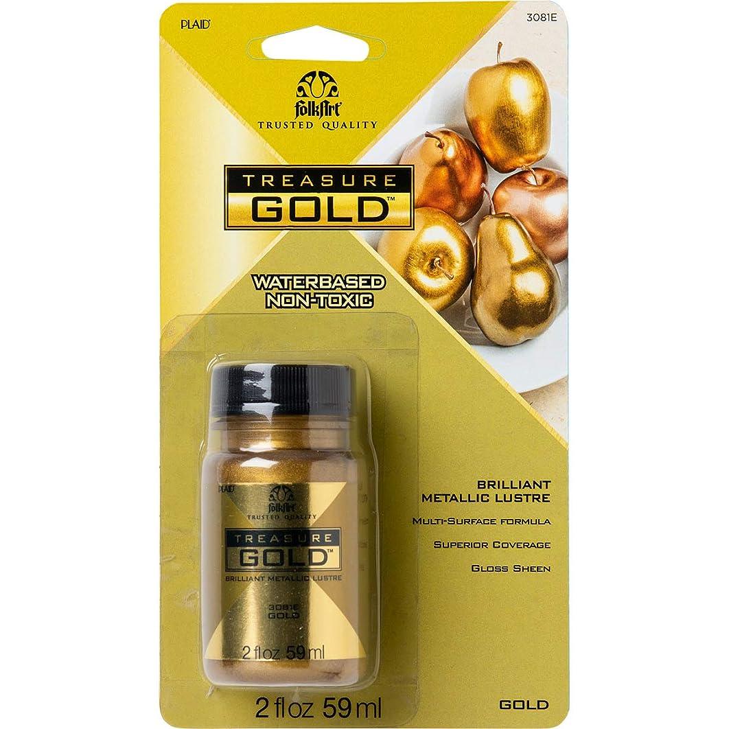 FolkArt 3081E FA Treasure Gold Paint 2ozGold,