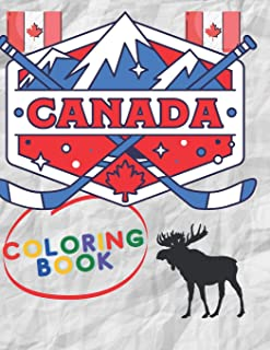 """Canada Coloring Book: Canada's Birthday Coloring Book size (8.5"""" x 11"""" )"""