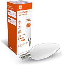 GE SES Live Candle LED Bulb, 470 Lumen 4.7 Wattage, Warm White