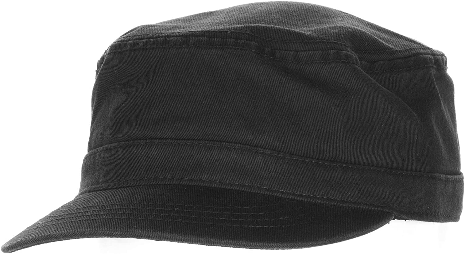 Chef Works Unisex Military Cap, Black, One Size