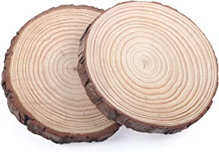 Natural Wood Slice for Centerpieces Ornaments Banner Blanks Decor Guest Books Large, 2PCS 6.7