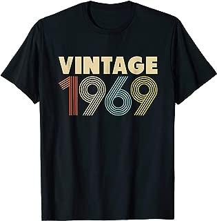 50th Birthday Gift Idea Vintage 1969 T-Shirt Men Women