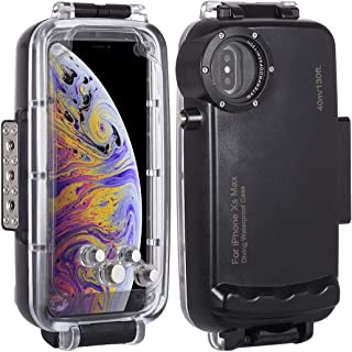HAWEEL for iPhone Xs Max Underwater Housing Professional [40m/130ft] Diving Case for Diving Surfing Swimming Snorkeling Photo Video with Lanyard (iPhone Xs Max, Black)