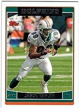 2006 Topps Miami Dolphins Team Set with Zach Thomas & Jason Taylor - 9 Cards