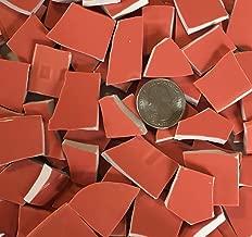 Broken China & Stoneware Mosaic ~ 100 Salmon Pink (Pinkish Orange) Tiles (B401sp)
