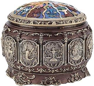 Caja de música de 12 constelaciones con diosa giratoria Vintage clásica caja musical giratoria con luz LED para niños niña...
