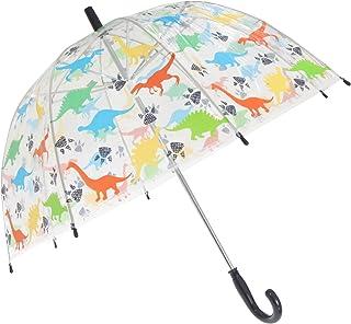 X-Brella Childrens/Kids Transparent Dinosaur Themed Stick Umbrella (UK Size: Kids) (Multicoloured)
