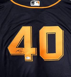 San Francisco Giants Madison Bumgarner Autographed Authentic Black Majestic Flex Base Jersey Size 52 Beckett BAS