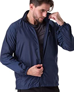 U.mslady Men's Lightweight Hooded Jacket Athletic Water Resistant Windbreaker Outerwear for Sports Running Travelling