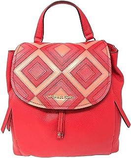 Michael Kors Pebble Leather Riley Large Studded and Plaid Backpack Bag