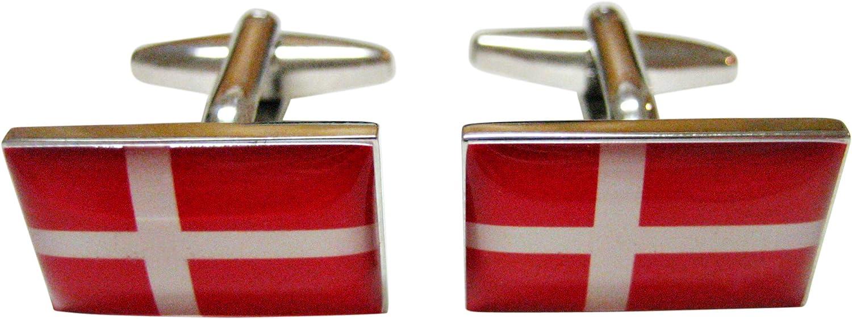 Denmark Flag Cufflinks