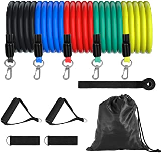 TOPLUS Resistance Bands Set - 5-Piece Exercise Bands for...