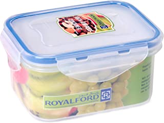 Royalford 500ml Meal Prep   Transparent Food Container   BPA Free, Reusable, Airtight Food Storage Tray with Snap Locking ...
