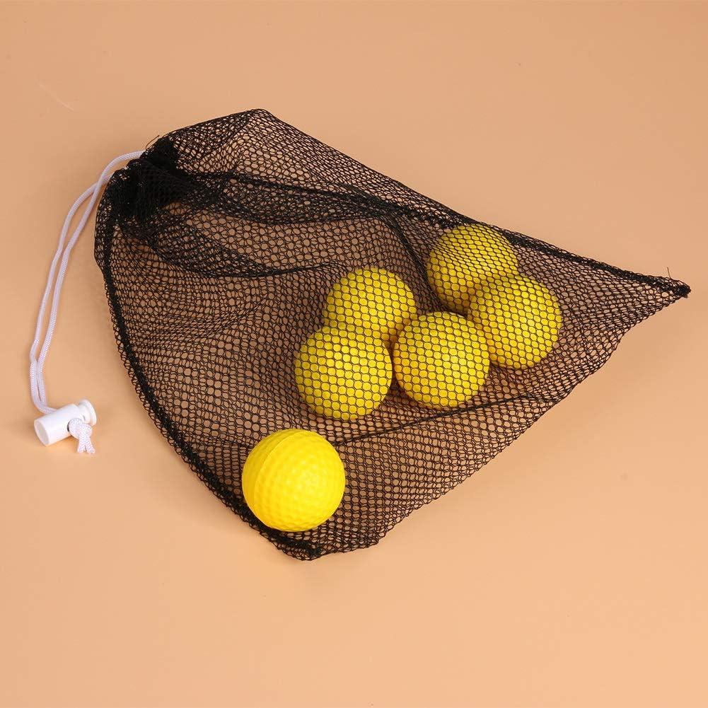 Bolsas de golf para hombres Negro de malla de nylon bolsa de red golf de la bolsa de tenis 40 bolas Holder sostiene la bola ayuda al almacenamiento de formación de cierre duradero 280 x 235 x 3 mm Dep