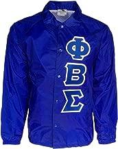 Mega_Greek Mens Phi Beta Sigma Nylon Coaches Jacket