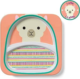 Skip Hop Skip Hop Baby Zoo Little Kid and Toddler Melamine Divided Feeding Plate for Mealtime - Llama
