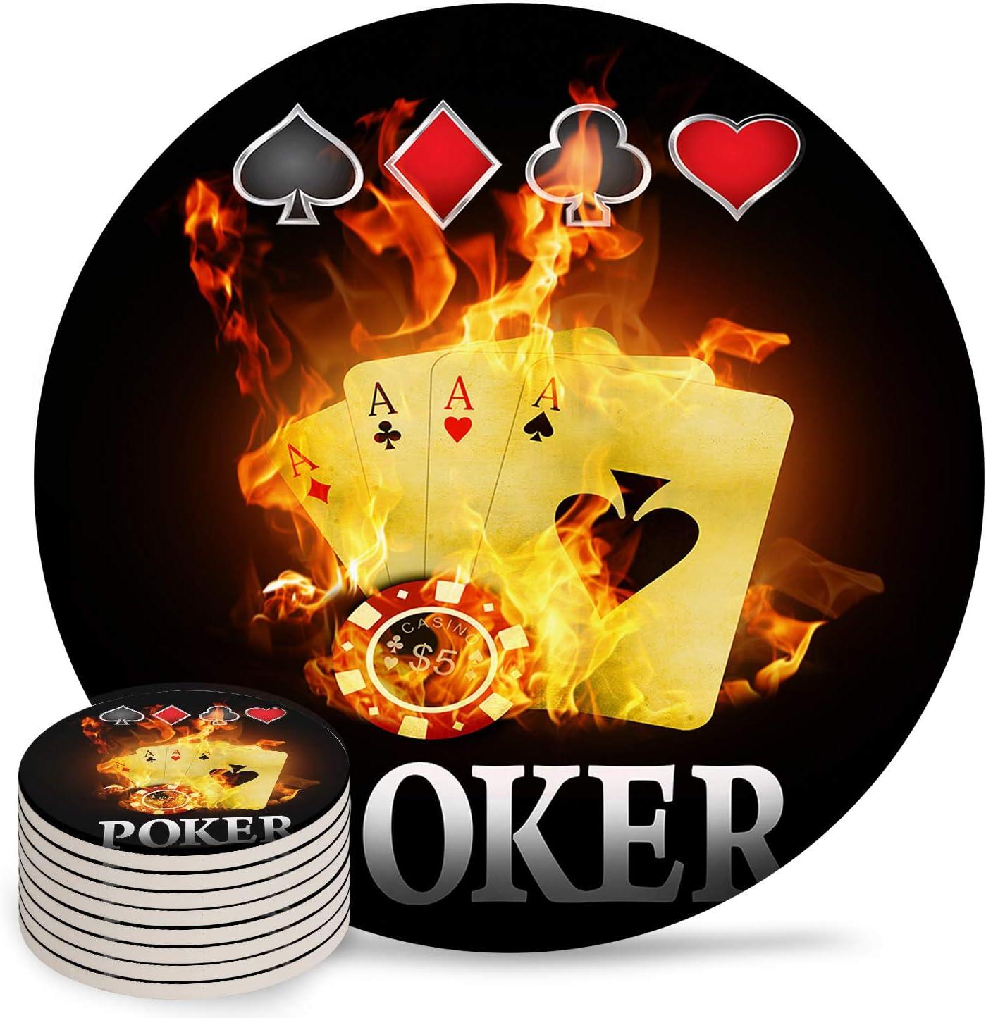 Coasters Rare for Drinks Burning Poker Absorbent Design Ceramic online shop Card