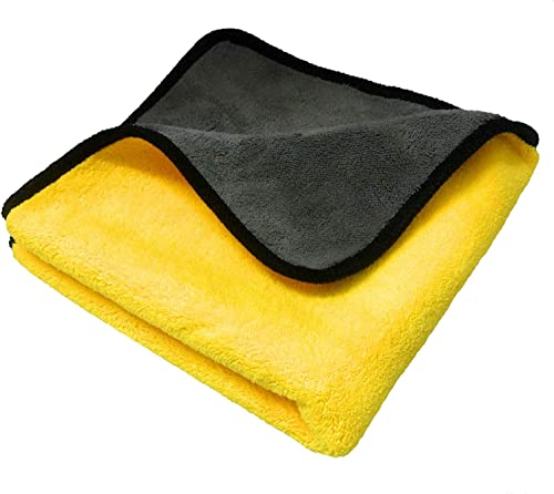 PrimAlite Microfiber Cleaning Cloth 800 GSM for Car & Motorbike- Pack of 1 (30 x 30 cm) for Home & Kitchen, Mobile, L...
