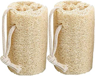 Natural Loofah Sponge Exfoliating Bath Sponges, For Removing Dead skin, Shower Loofah Body Scrubbers ((2 Pack))