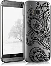 kwmobile Crystal Case for HTC One M8 / Dual - Hard Durable Transparent Protective Cover - Black/Transparent