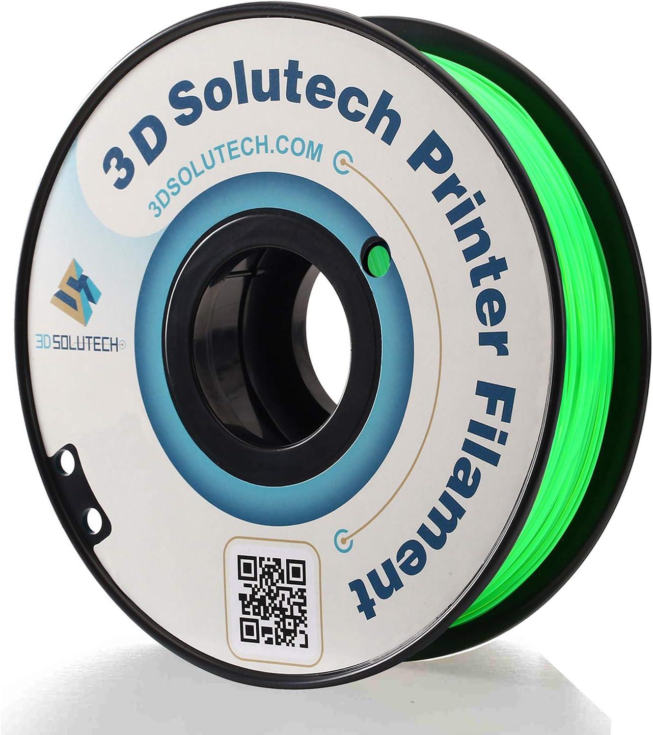 3D Solutech See Through Green 1.75mm PETG 3D Printer Filament 2.2 LBS (1.0KG) - PETG175GRN