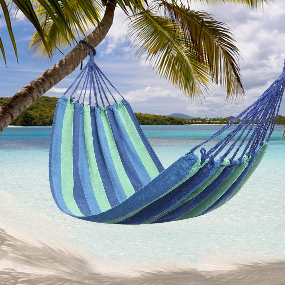 Onxall 20080cm At the price of surprise Portable Polyester Cotton or blueSt High material Red Hammock