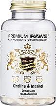 Premium Raws Choline and Inositol Capsules Promotes Liver Function lipid Metabolism homocysteine Metabolism 250mg Choline 250mg Inositol per Capsule 90 Capsules Estimated Price : £ 16,98