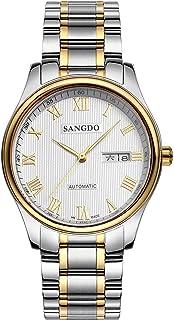 Sangdo桑德全自动机械表 防水精钢时尚潮流男表 复古休闲商务男士腕表 罗马刻度经典机械手表