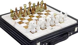 41cm White & Green Onyx Top Home Decor Ideas classic board games Chess Set - Handmade Marble Decor Chess Board Game Set - ...