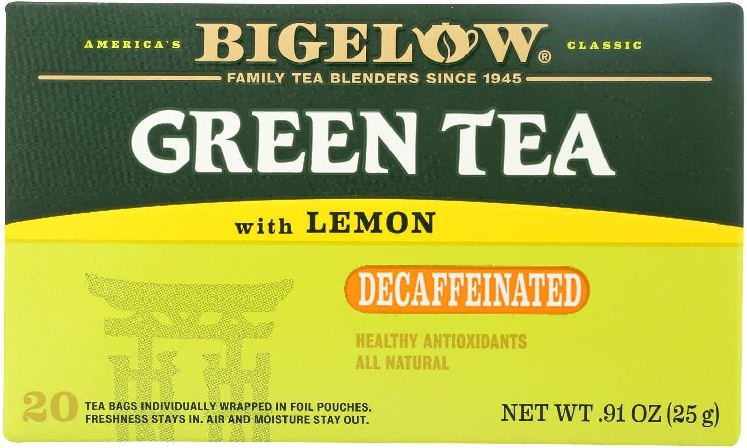 Bigelow Green Tea 激安☆超特価 with Lemon Decaf of 6 0.91 Pack OZ 激安卸販売新品