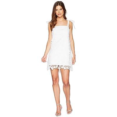 kensie Bold Garden Lace Dress KS5K8220 (White) Women