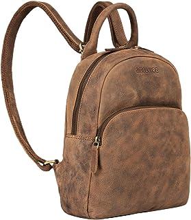 STILORD 'Ruby' Daypack Damen Leder Rucksack Kleiner Lederrucksack Vintage Rucksackhandtasche Cityrucksack für Ausgehen Sho...