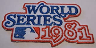 Real88 Store New York Yankees vs Los Angeles Dodgers~MLB~1981 World Series~Logo Jersey Patch