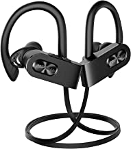 Mpow FLAME2 Bluetooth Headphones Sport, 12Hrs & Bluetooth 5.0 Wireless Sport Earphones, IPX7 Waterproof Bluetooth Headset W/CVC 6.0 Noise Cancelling Mic, Bluetooth Earphones w/Comfort-Slanting, Black