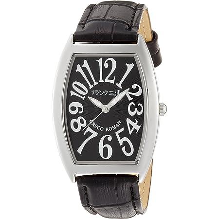 [フランクミウラ] 腕時計 フランク三浦 アナログ 零号機 グレコローマンスタイル400戦無敗 記念モデル 革ベルト FM00K-B メンズ ブラック