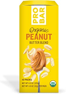 PROBAR - Nut Butters, Peanut Butter, Non-GMO, Gluten-Free, USDA Certified Organic, Healthy, Plant-Based Whole Food Ingredients, Natural Energy (10 Count) Packaging May Vary