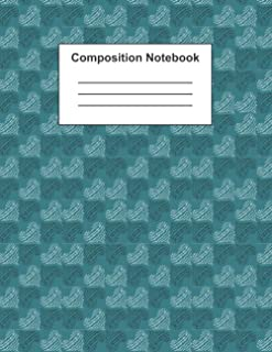 Composition Notebook: College Ruled Notebook For Students | Seamless Heart Pattern Cover | 8.5 x 11, 150 Pages